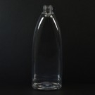 12 oz 24/410 Tear Oval Clear PET Bottle
