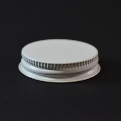 43/400 CT White White Metal Continuous Thread Caps