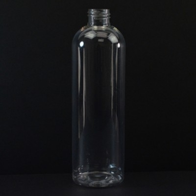 12 oz 24/410 Cosmo Round Clear PET Bottle