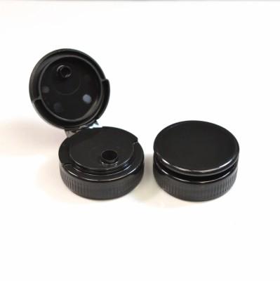 38/400 Ribbed Black Flip Top Dispensing PP Cap