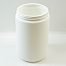 25 oz 89/400 White HDPE Wide Mouth Regular Wall Straight Sided Jar