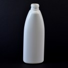 8 oz 24/410 Teardrop Oval White HDPE Bottle