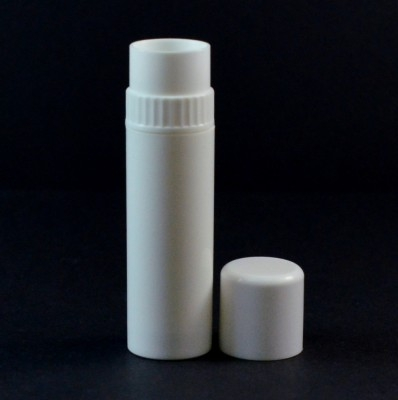 .25 oz White Collar Lip Balm Container, 3.06