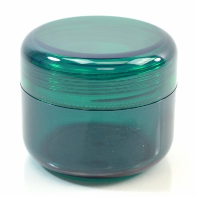 2 oz 53 MM Emerald Thick Wall Round Base SAN Jar