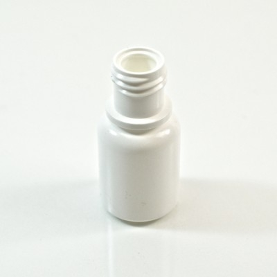 1/4 oz 15/415 Boston Round White HDPE Bottle