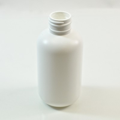 4 oz 24/410 Boston Round White HDPE Bottle