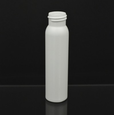 2 oz 20/410 Imperial Round White HDPE Bottle