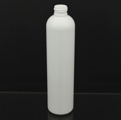 10 oz 24/410 Imperial Round White HDPE Bottle