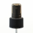 24/410 Ribbed Black Fine Mist Sprayer PP Hood