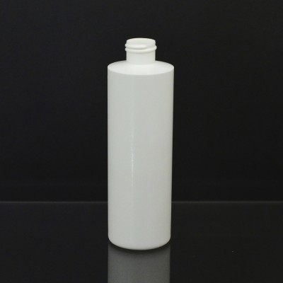 8 oz 20/410 Cylinder Round White HDPE Bottle