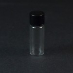 1/2 DRAM Screw Thread Clear Glass Vial 8/425