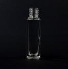 10 ml 13/415 Nancy Square Clear Glass Bottle
