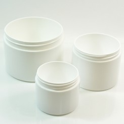 Double Wall Straight Base Plastic Jars