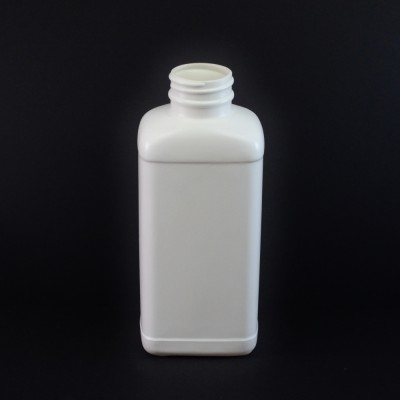 16 oz 38/400 White Blake Oblong HDPE Bottle