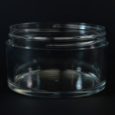 250 ML 89/400 Heavy Wall Low Profile Clear PETG Jar