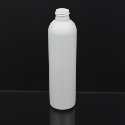 8 oz 24/410 Imperial Round White HDPE Bottle