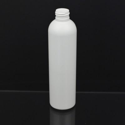 8 oz 24/410 Imperial Round White HDPE Bottle