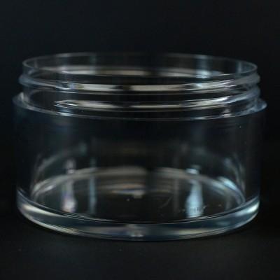 200 ML 83/400 Heavy Wall Low Profile Clear PETG Jar