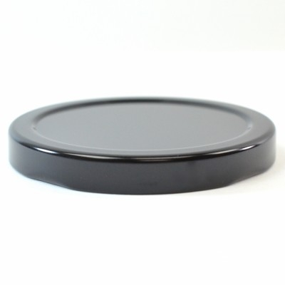 70/2030 Regular Twist Open Black Metal Cap / Plastisol Liner