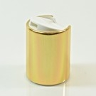 20/415 White/Gold Metal Overshell Dispensing Cap PP/Aluminum