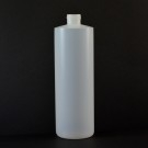 16 oz 24/410 Cylinder Round Natural HDPE Bottle