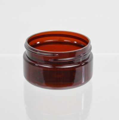 2 oz 58/400 Low Profile Amber PET Jar