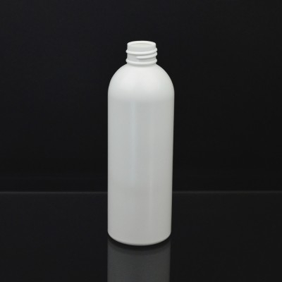 8 oz 24/410 Royalty Round White HDPE Bottle