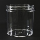 6 oz 70/400 Regular Wall Straight Base Clear PS Jar