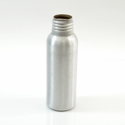 2 oz Brushed Silver 24/410 Aluminum, 35x105 Bottle