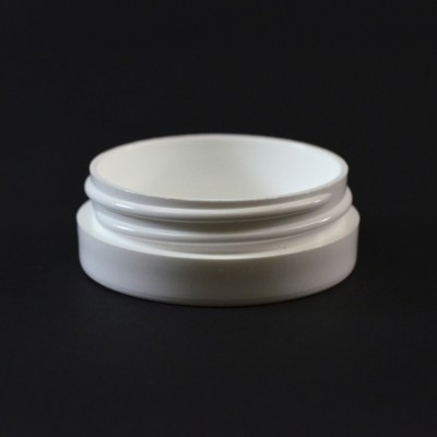1/2 OZ 53/400 Thick Wall Straight Base White PP Jar - 1520/Case