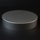 89/400 Matte Silver Metal Overshell Straight Sided Cap Foam Liner - 200/Case