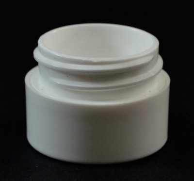 1/4 oz 33/400 Double Wall Straight Base White PP Jar