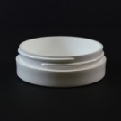 1 oz 70/400 White Thick Wall Straight Base PP Jar