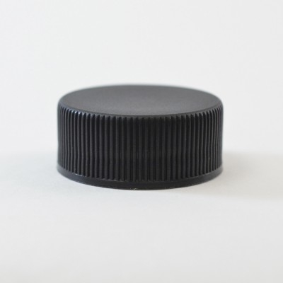 24/400 Black Ribbed Straight PP Cap / F217 Liner