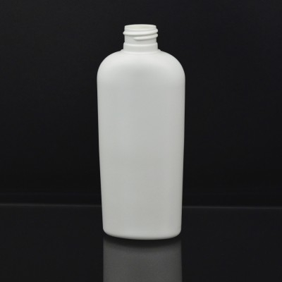 8 oz 24/410 Classic Oval White HDPE Bottle