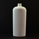 16 oz 24/410 Classic Oval White HDPE Bottle
