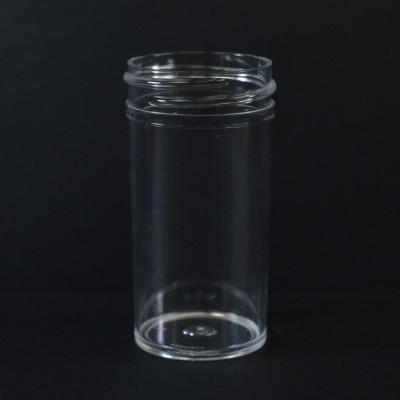 1.5 oz 38/400 Regular Wall Straight Base Clear PS Jar
