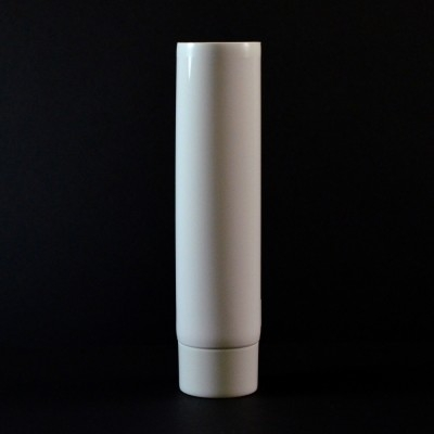 4 oz White MDPE Tube 1 1/2 X 5 7/16 with White Smooth Cap