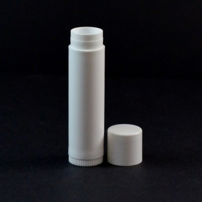 .15 oz White Classic Lip Balm Container, 2.65' Tall with Cap - #500