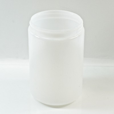 25 oz 89/400 Natural HDPE Wide Mouth Regular Wall Straight Sided Jar