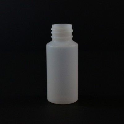 1 oz 20/410 Cylinder Round Natural LDPE Bottle