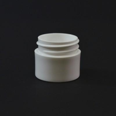 1/4 oz 33/400 White Thick Wall Straight Base PP Jar