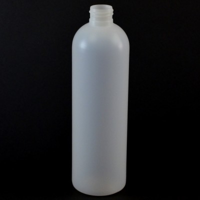 12 oz 24/410 Royalty Round Natural HDPE Bottle