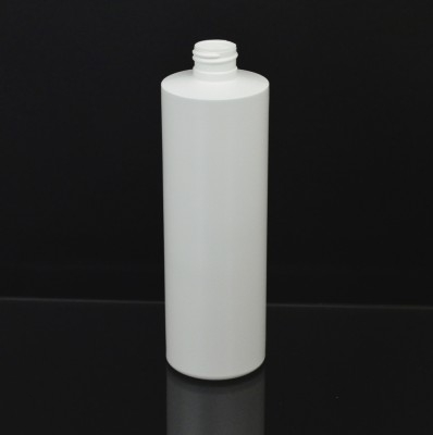 12 oz 24/410 Cylinder Round White HDPE Bottle