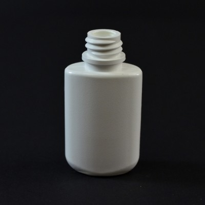 0.25 oz 13/415 W/R Drug Oval White HDPE Bottle
