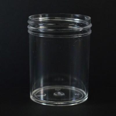 2 oz 53/400 Regular Wall Straight Base Clear PS Jar