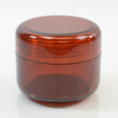 2 oz 53 MM Amber Thick Wall Round Base SAN Jar
