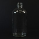 8 oz Boston Round 28/400 Clear Glass Bottle