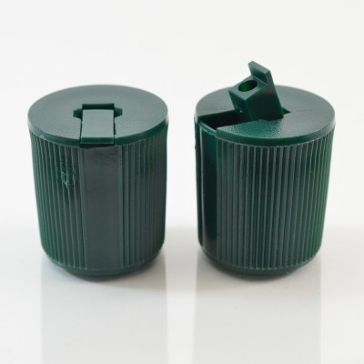 22/415 Dark Green Dispensing Spouted Cap PS-217 Land Seal PP