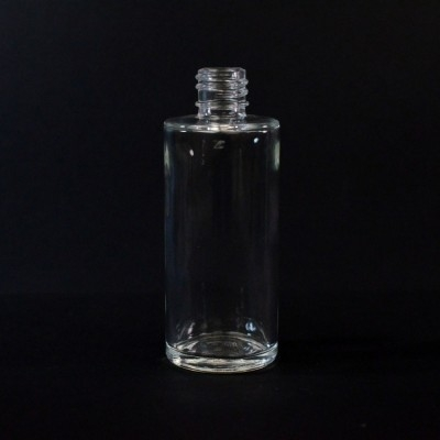 2 OZ 18/415 Cylinder Round Clear Glass Bottle  - 126/case